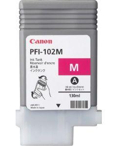 Cartouche (PFI102M) pour Canon IPF 500/600/605/610/700/710 : Magenta - 130ml