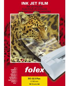 Film FOLEX BG32.5 Plus Transparent Retropro avec Strip 100µ, A4 50 feuilles