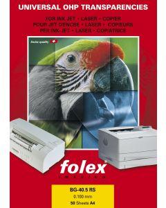 Film FOLEX BG40.5 Transparent Universel Laser et copieur 100µ, A4 50 feuilles