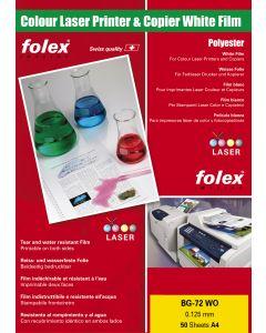 Film FOLEX BG72 white Opaque 125µ, A4 50 feuilles