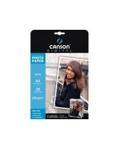 Papier Canson Digital Performance Photo Satin 210g, A4 20 feuilles