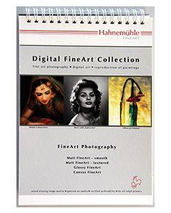 Book échantillons imprimés en A5 (Présentation de la gamme Hahnemühle)