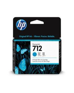 Encre HP 712 Cyan pour HP DesignJet T230/T250/T630/T650  29ml