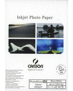 Papier CANSON DIGITAL PhotoGloss 260g, 10cm x 15cm 100 feuilles