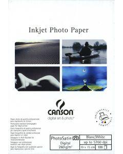 Papier CANSON DIGITAL PhotoSatin 260g, 10cm x 15cm 100 feuilles