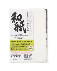 Papier Awagami Shiramine Postcards 260g, 10x15cm 5 feuilles