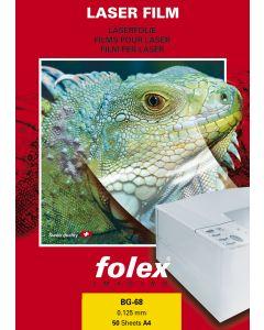 Film FOLEX transparent Retropro Haute Température BG68 125µ, A4 50 feuilles