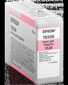 Encre Epson T8506 pour SureColor P800 : Magenta Clair (C13T850600)