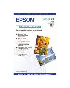 Papier Epson Mat Archival 189g, A3+ 50 feuilles