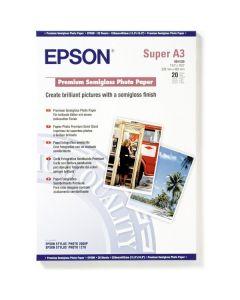 Papier Epson Photo Premium Semi-Glacé, 251g, A3+ 20 feuilles