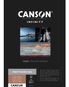 Papier Canson Infinity Print Making Rag (BFK Rives) 310g, A3 25 feuilles