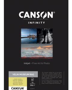 Papier Canson Infinity Velin Museum Rag 315g, A3 25 feuilles