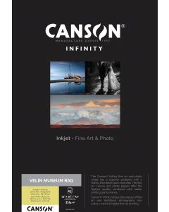 Papier Canson Infinity Velin Museum Rag 315g, A3+ 25 feuilles