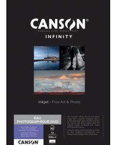 Papier Canson Infinity Rag Photographique Duo 220g, A3 25 feuilles