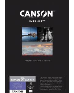 Papier Canson Infinity Rag Photographique Duo 220g, A3+ 25 feuilles