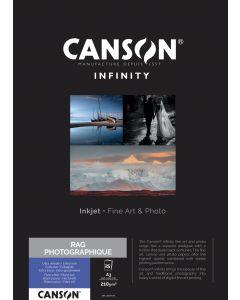 Papier Canson Infinity Rag Photographique 210g, A3 25 feuilles