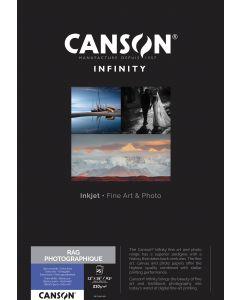 Papier Canson Infinity Rag Photographique 210g, A3+ 25 feuilles