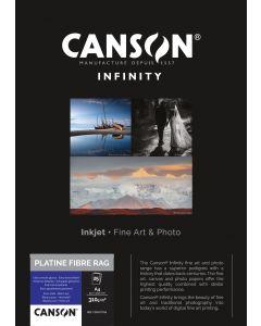 Papier Canson Infinity Platine Fibre Rag 310g, A4 25 feuilles