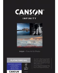 Papier Canson Infinity Platine Fibre Rag 310g, A3 25 feuilles