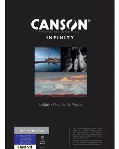 Papier Canson Infinity Platine Fibre Rag 310g, A2 25 feuilles