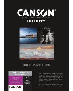 Papier Canson Infinity PhotoGloss Premium RC 270g, A4 25 feuilles