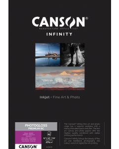 Papier Canson Infinity PhotoGloss Premium RC 270g, A3+ 25 feuilles