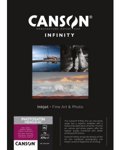 Papier Canson Infinity PhotoSatin Premium RC 270g, A4 25 feuilles