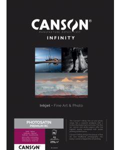 Papier Canson Infinity PhotoSatin Premium RC 270g, A3 25 feuilles