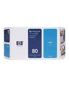 Cartouche C4846A (n°80) pour HP DesignJet Série 1050/1055  : Cyan, 350ml