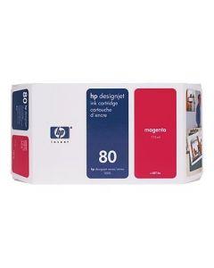 Cartouche C4847A (n°80) pour HP DesignJet Série 1050/1055  : Magenta, 350ml