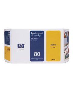 Cartouche C4848A (n°80) pour HP DesignJet Série 1050/1055  : Jaune, 350ml