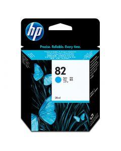 Cartouche C4911A (n°82) pour HP DesignJet 10/20/50/500/800 PS : Cyan - 69 ml