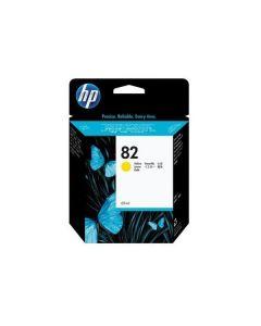 Cartouche C4913A (n°82) pour HP DesignJet 10/20/50/500/800 PS : Jaune - 69 ml