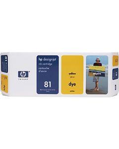 Cartouche C4933A (n°81) pour HP DesignJet Série 5000/5500 Jaune - 680 ml