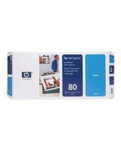 Tête d'impression & Tête de nettoyage C4821A (n°80) pour HP 1050/1055 : Cyan