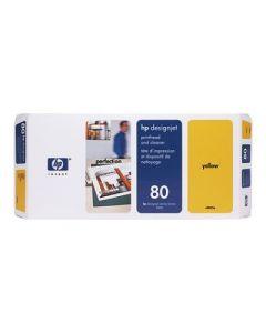 Tête d'impression & Tête de nettoyage C4823A (n°80) pour HP 1050/1055 : Jaune
