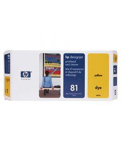 Tête d'impression & Tête de nettoyage C4953A (n°81) pour HP 5000/5500 : Jaune