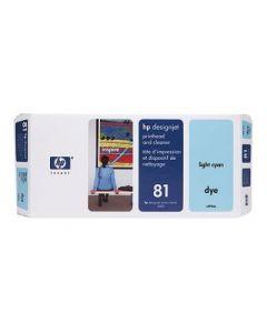Tête d'impression & Tête de nettoyage C4954A (n°81) pour HP 5000/5500 : Light Cyan