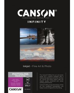 Papier CANSON INFINITY Photo Glossy Premium RC 270g, A4 250 feuilles