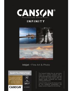 Papier CANSON INFINITY Baryta Prestige 340g A4 25 feuilles
