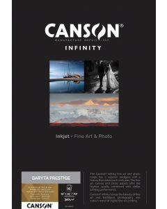 Papier CANSON INFINITY Baryta Prestige 340g A3+ 25 feuilles
