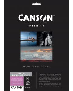 Papier CANSON INFINITY Baryta Photographique II 310g A4 10 feuilles