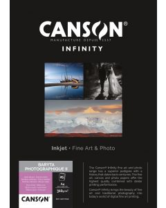 Papier CANSON INFINITY Baryta Photographique II 310g A4 25 feuilles