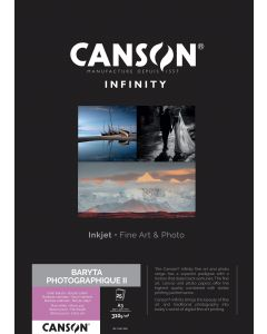 Papier CANSON INFINITY Baryta Photographique II 310g A3 25 feuilles