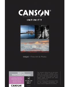 Papier CANSON INFINITY Baryta Photographique II 310g A3+ 25 feuilles