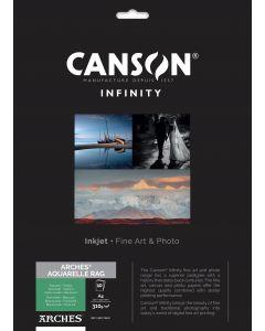 Papier CANSON INFINITY Arches® Aquarelle Rag 310g A4 10 feuilles