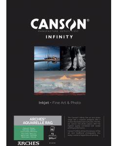 Papier CANSON INFINITY Arches® Aquarelle Rag 310g A3 25 feuilles