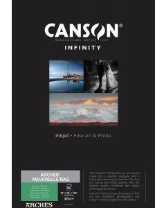 Papier CANSON INFINITY Arches® Aquarelle Rag 310g A3+ 25 feuilles