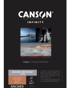 Papier CANSON INFINITY Arches® BFK Rives Blanc 310g A3 25 feuilles