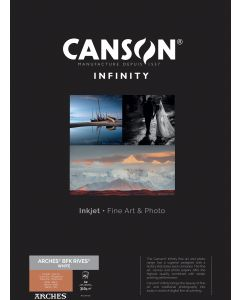 Papier CANSON INFINITY Arches® BFK Rives Blanc 310g A2 25 feuilles